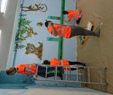 Kolorowy zakątek - malowanie i doposażenie sali