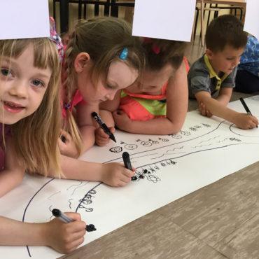Ogród zabaw zaprojektowany przez dzieci
